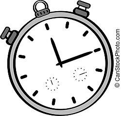 Cartoon illustration of a stopwatch