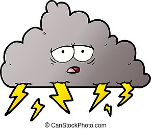 cartoon storm cloud cartoon illustration of a storm cloud clip rh canstockphoto com storm cloud clipart png