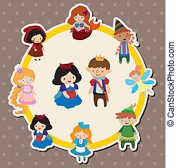 cartoon story people card