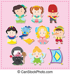 Cartoon story people icons, vector, illustration