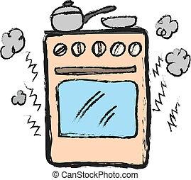 cartoon stove