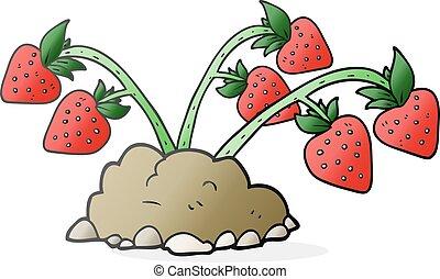 cartoon strawberries