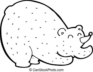 cartoon stretching bear