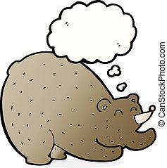 cartoon stretching bear with thought bubble