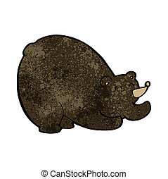 cartoon stretching black bear