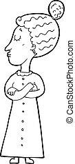 cartoon strict victorian teacher