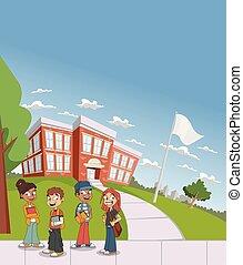 Cartoon students