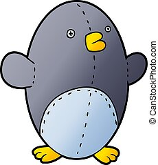 cartoon stuffed toy penguin