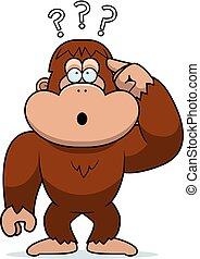 Cartoon Stupid Bigfoot