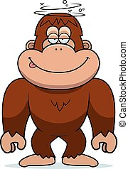 Cartoon Stupid Bigfoot