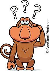 Cartoon Stupid Proboscis - A cartoon illustration of a...
