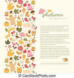 Cartoon Style Autumn Concept