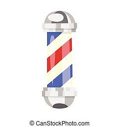 cartoon style illustration of barber pole.