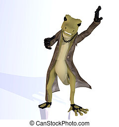Cartoon style lizard