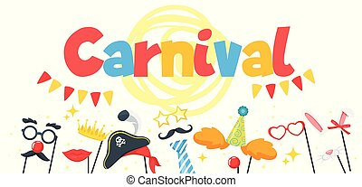 Carnival party. Vector illustration.