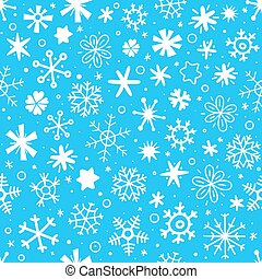 Cartoon style seamless pattern of snowflakes