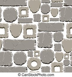 Cartoon style stones seamless pattern