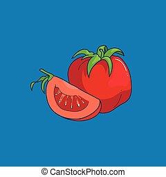 Cartoon style tomato