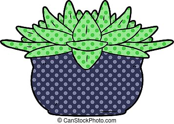 cartoon succulent plant