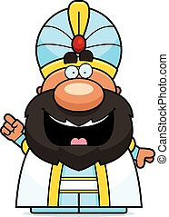Cartoon Sultan Idea - A cartoon illustration of a sultan...