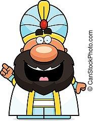 Cartoon Sultan Idea - A cartoon illustration of a sultan...