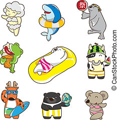 cartoon summer animal