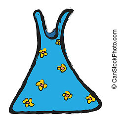 Cartoon Summer Dress With Flowers