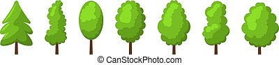 Cartoon summer tree set