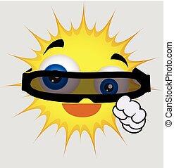 Sun Emotion with Hi-Tech Glasses