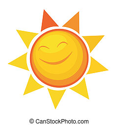cartoon sun icon