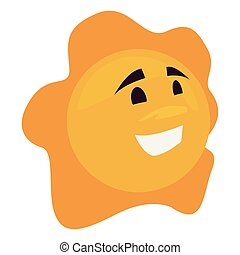 cartoon sun on white background