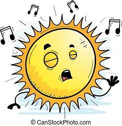 Cartoon Sun Singing