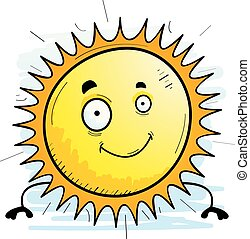 Cartoon Sun Smiling