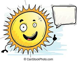 Cartoon Sun Talking
