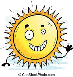 Cartoon Sun Waving