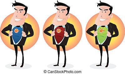 Cartoon Super Hero Double Identity Set