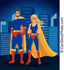 Cartoon Super Heroes Characters Poster