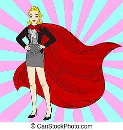 cartoon super woman