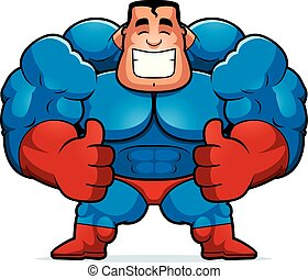 Cartoon Superhero Thumbs Up