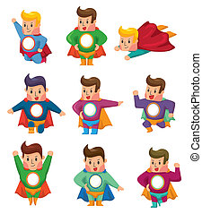 cartoon, superman, iconerne