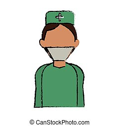 cartoon surgeon doctor wearing clothes medical uniform