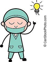 Cartoon Surgeon Got an idea
