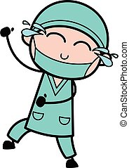 Cartoon Surgeon Laughing