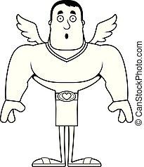 Cartoon Surprised Cupid