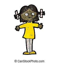 cartoon surprised girl