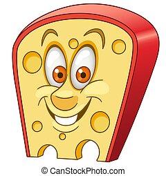 Cartoon Swiss cheese piece