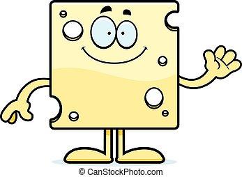 Cartoon Swiss Cheese Waving