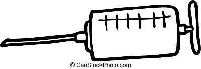 cartoon syringe