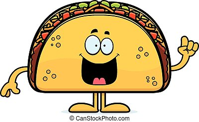 Cartoon Taco Idea - A cartoon illustration of a taco with an...