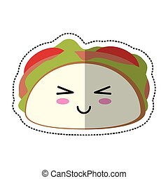 cartoon taco mexican food